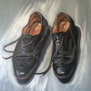 Work Shoes Oil on Canvas 60cms x 60cms