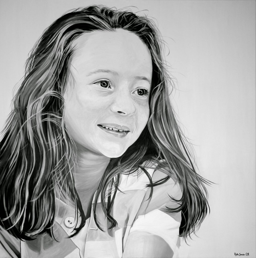 Annabel, Oil on Canvas 130 x 130 cms