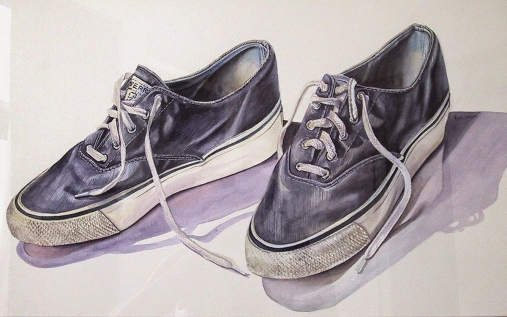 Deck shoes, Watercolour