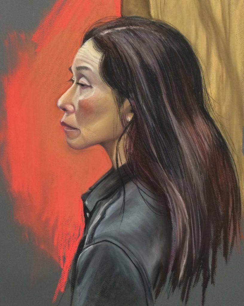 Chinese Lady, Pastel 38 x 55 cms