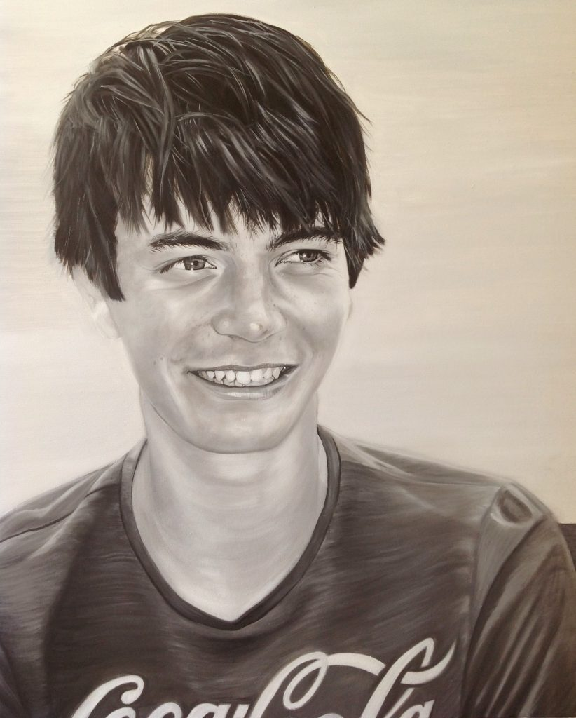 Alex, Oil on Canvas 50 x 60 cms