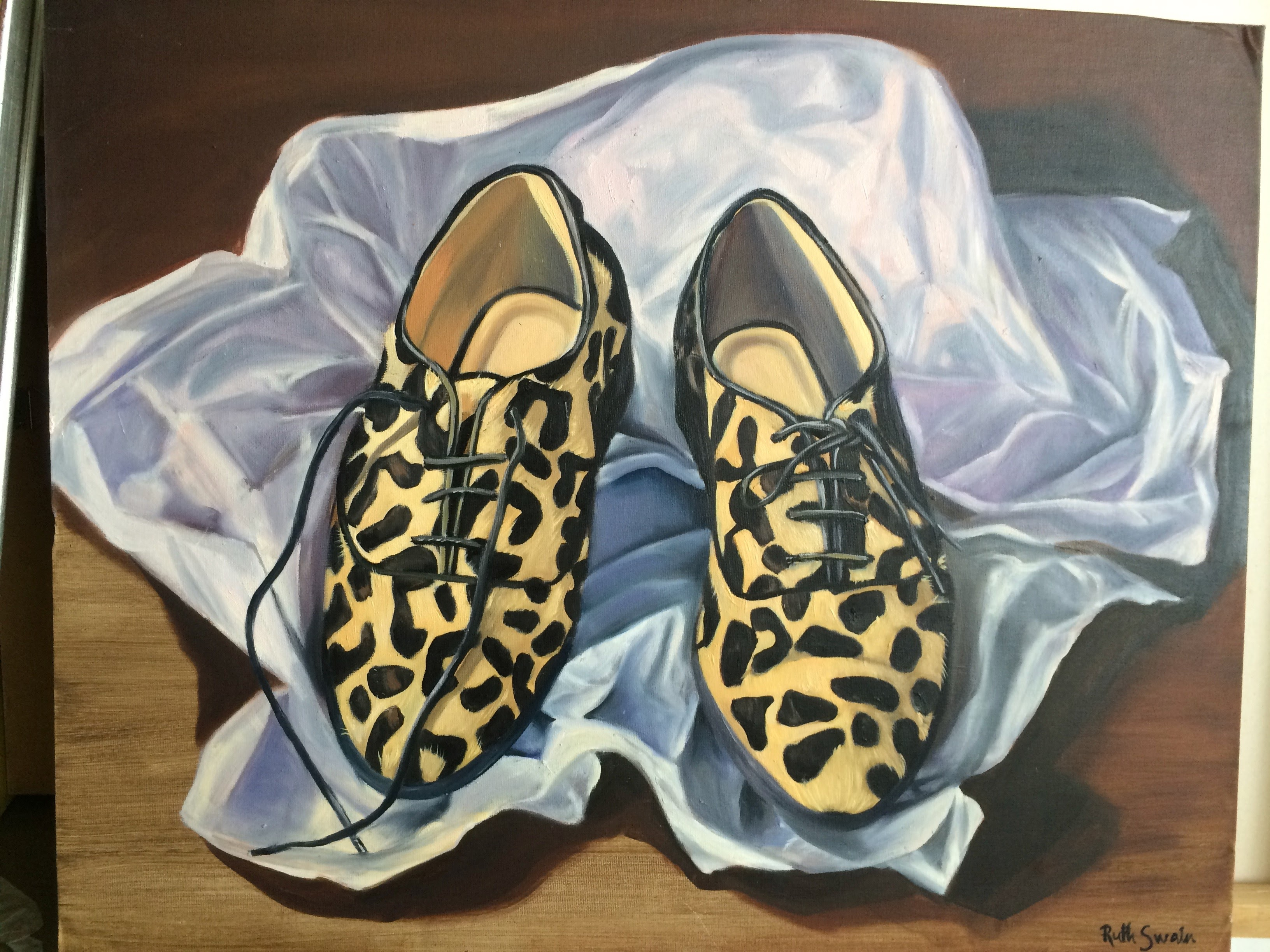 Animal Print Shoes, Oil on Board 60cm x 40cm