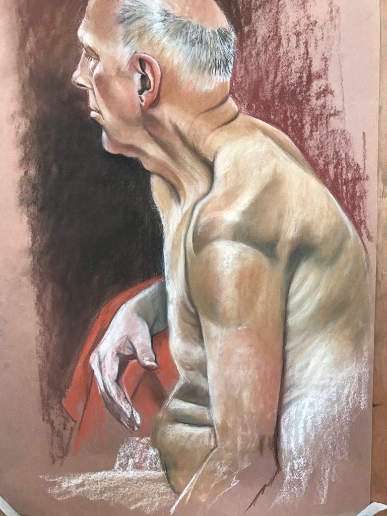 Life Drawing, Pastel, 60 x 75cm