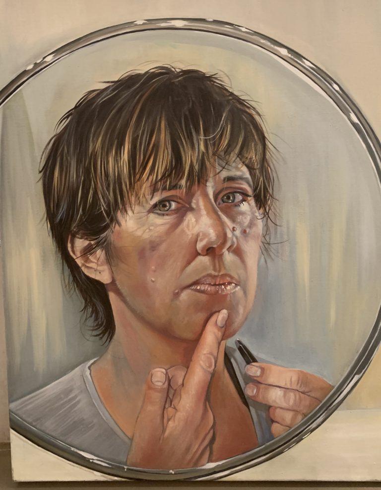 Self portrait with tweezers