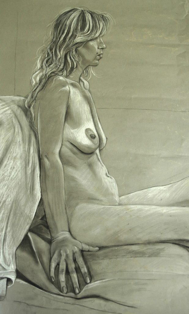 Rowan in chalk and charcoal