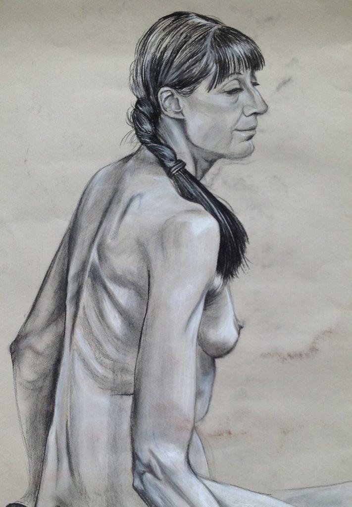 Woman with a plait