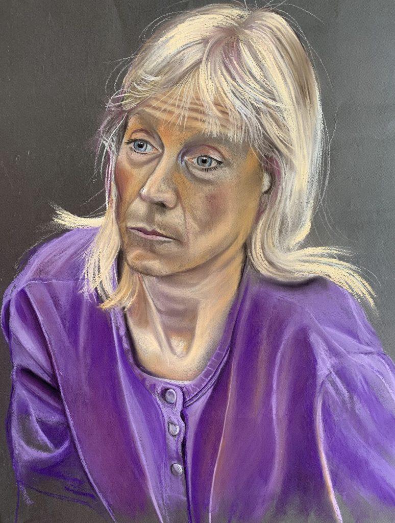 Patsy in purple