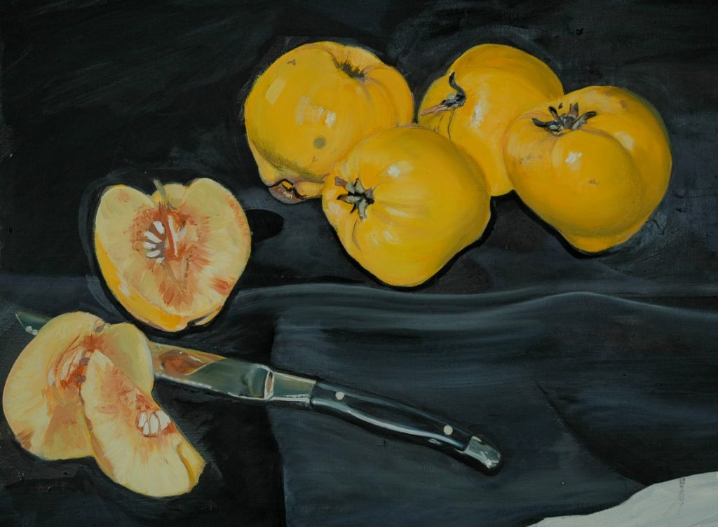 quince and knife