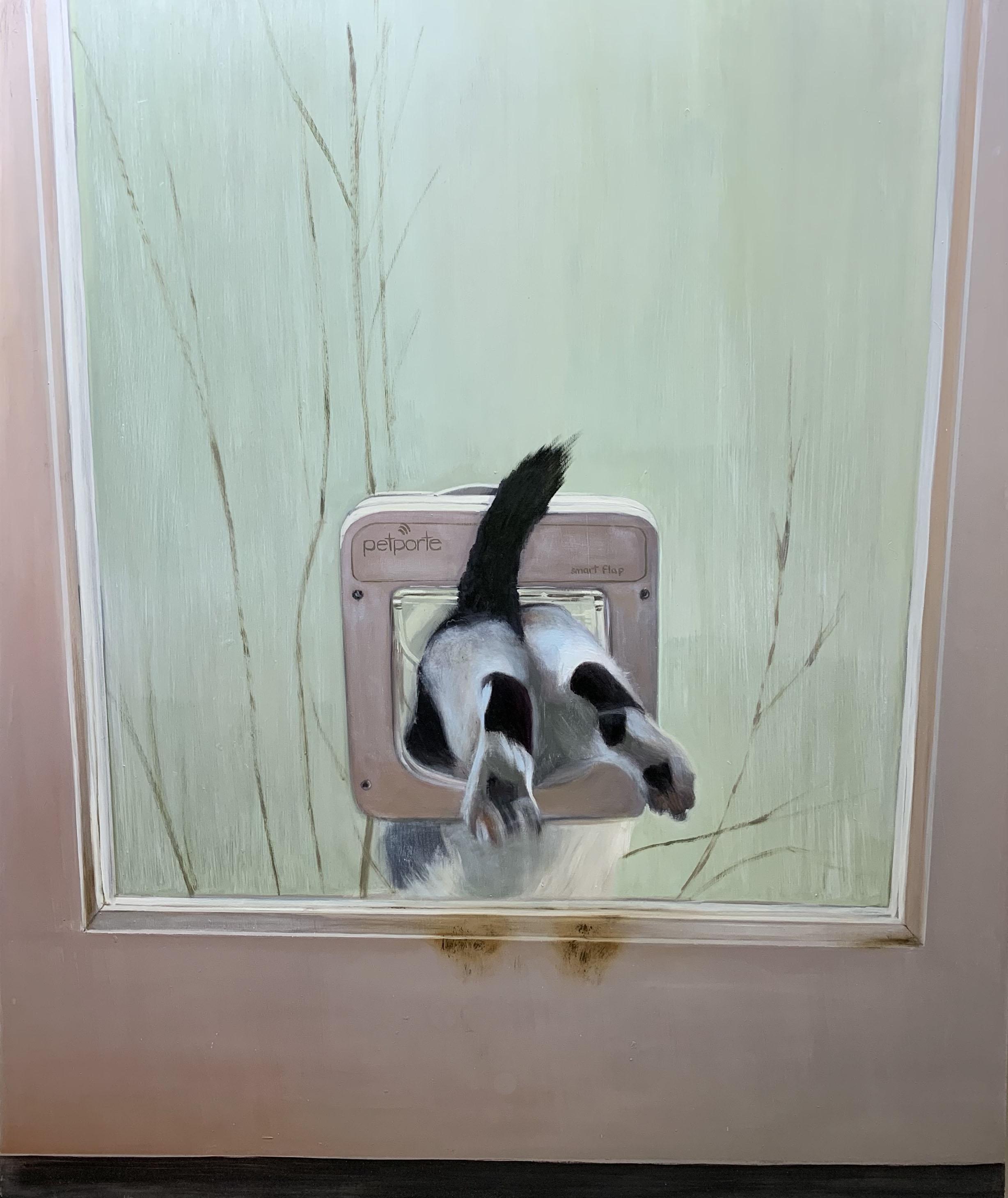Pop gone (exit through the cat flap)
