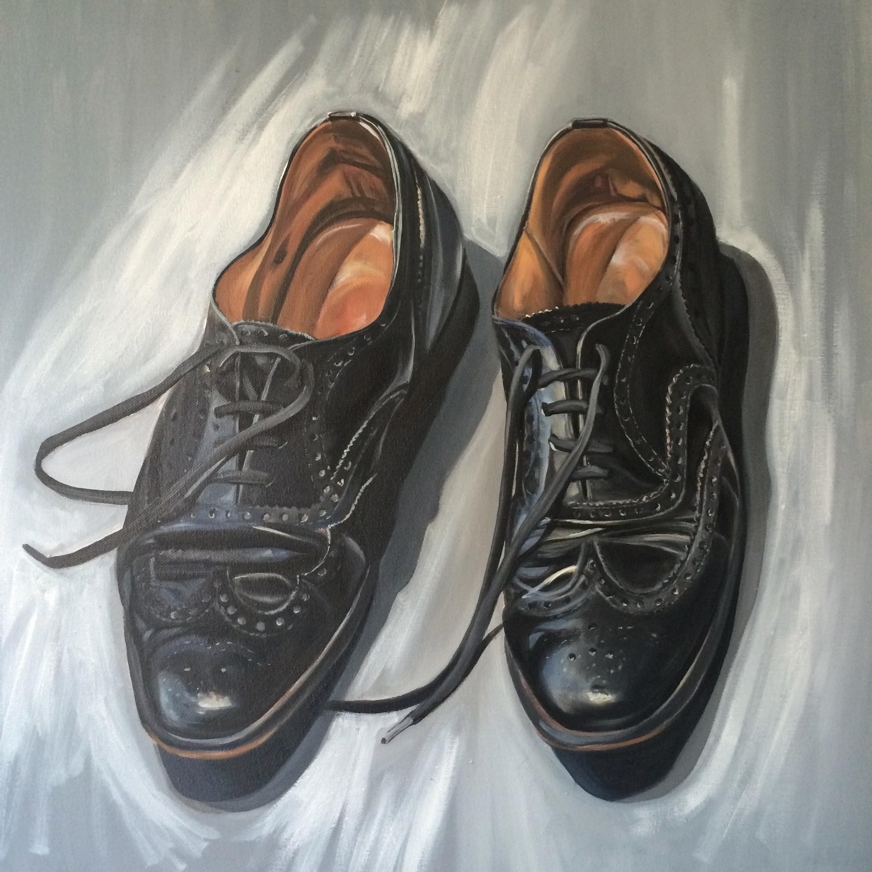 Work Shoes Oil on Canvas 60cms x 60cms