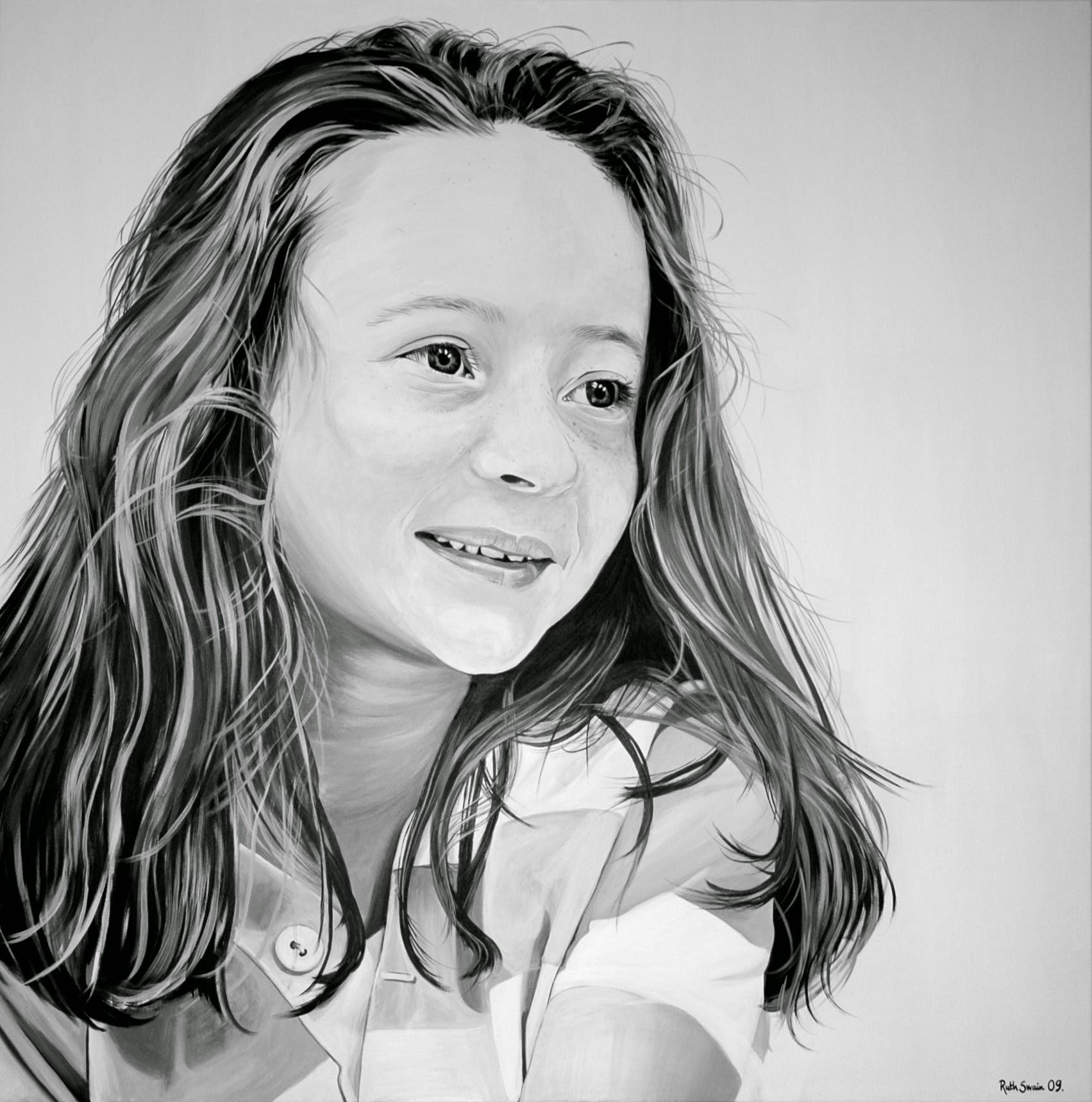 Annabel, Oil on Canvas 130 x 130 cms
