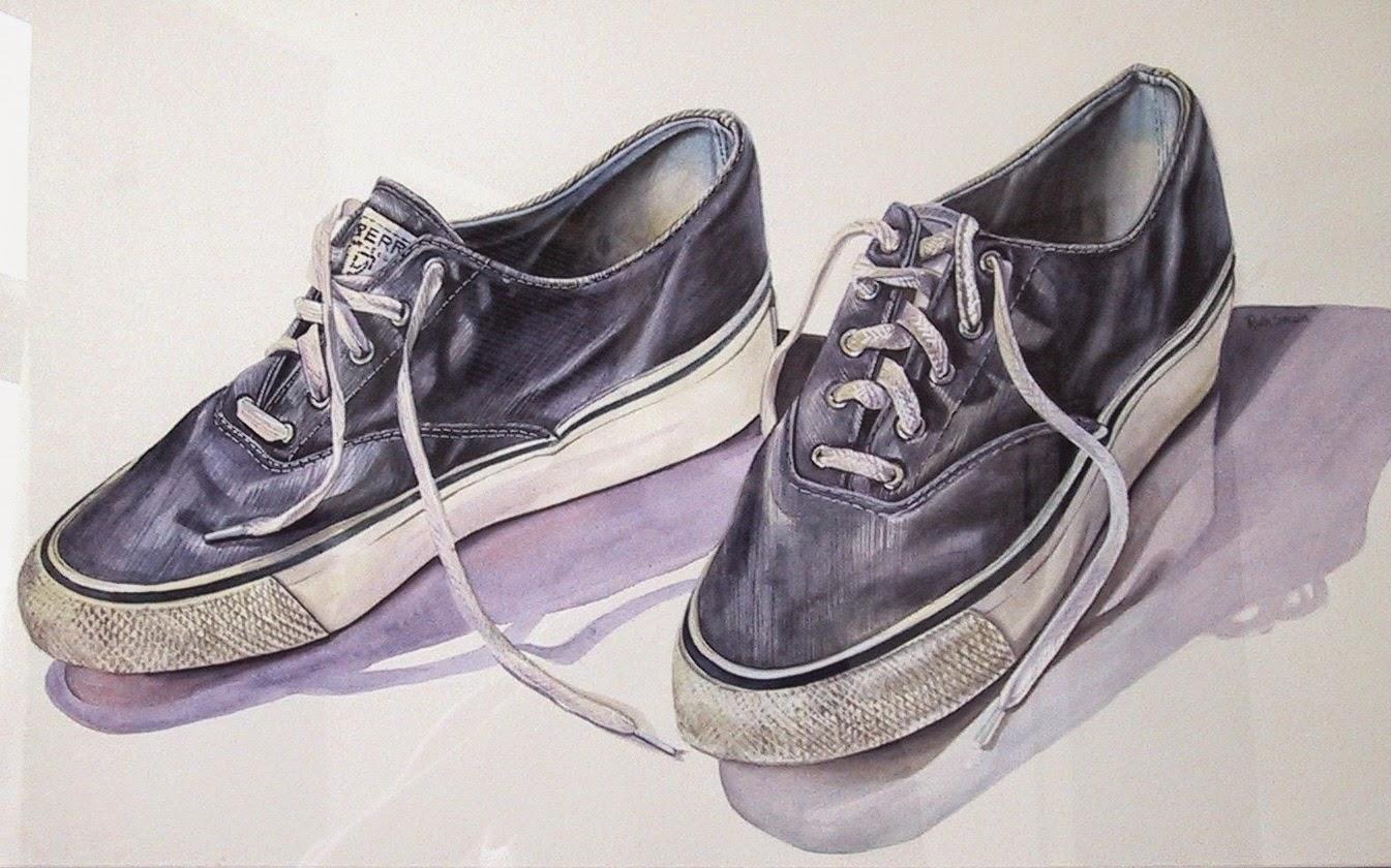 Deck shoes, Watercolour