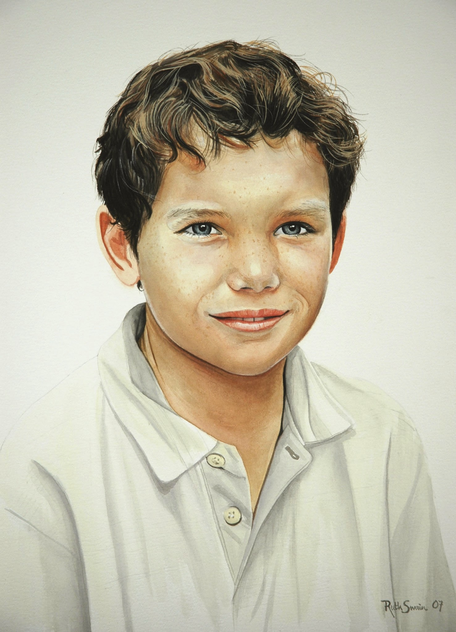 William, Watercolour 50 x 60 cms
